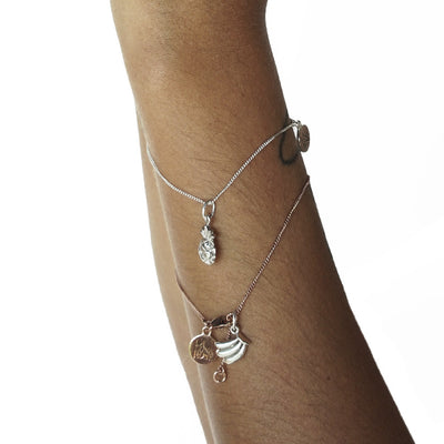 La Luna Rose Jewellery - Pineapple Charm Silver