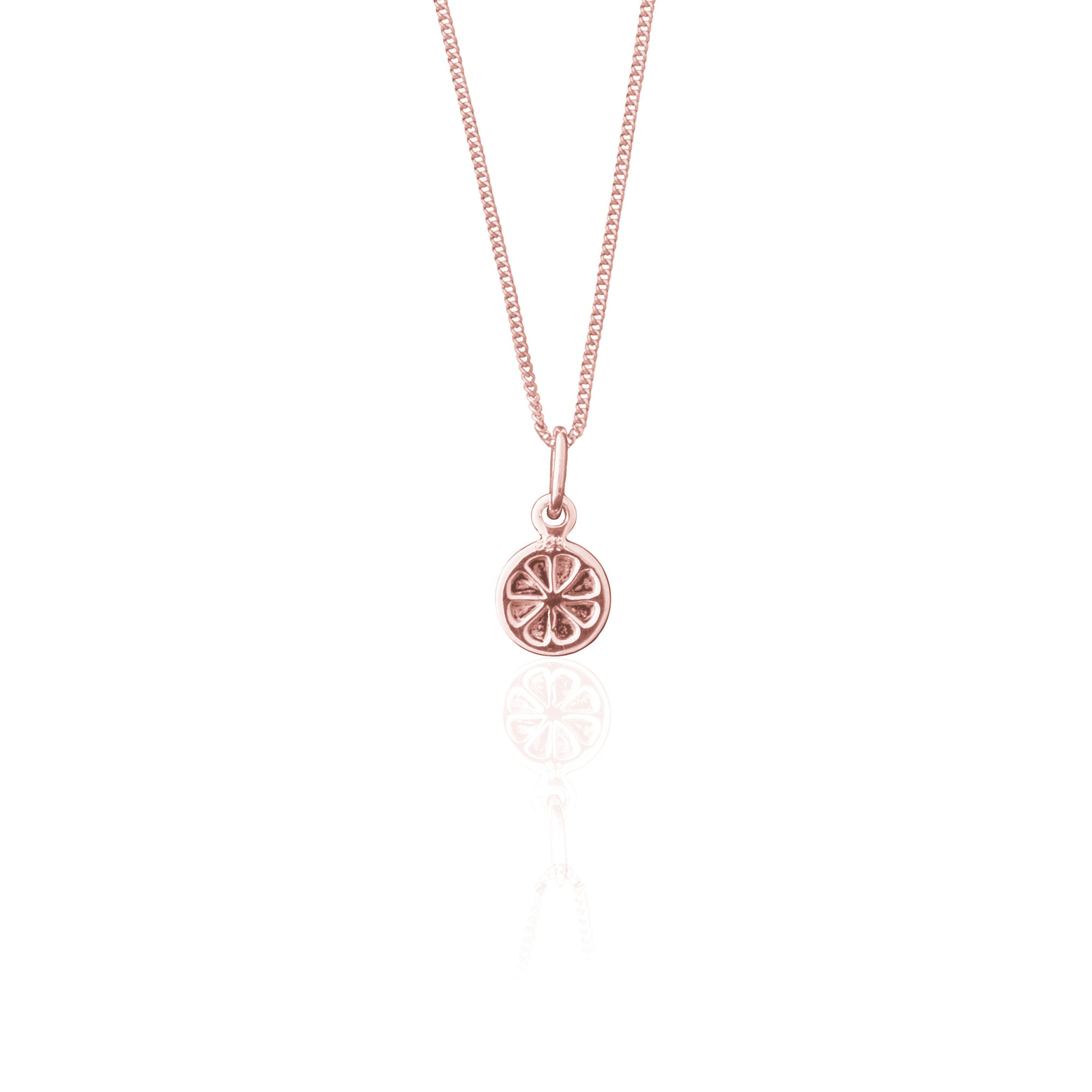Orange you Cute Necklace (Rose Gold)