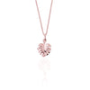 La Luna Rose Jewellery - Never Leaf Me Charm Necklace -  Rose Gold