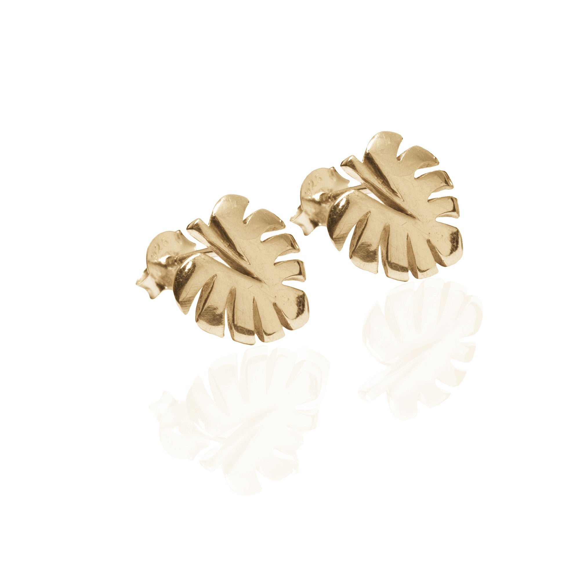 Never Leaf Me Earrings (Gold)