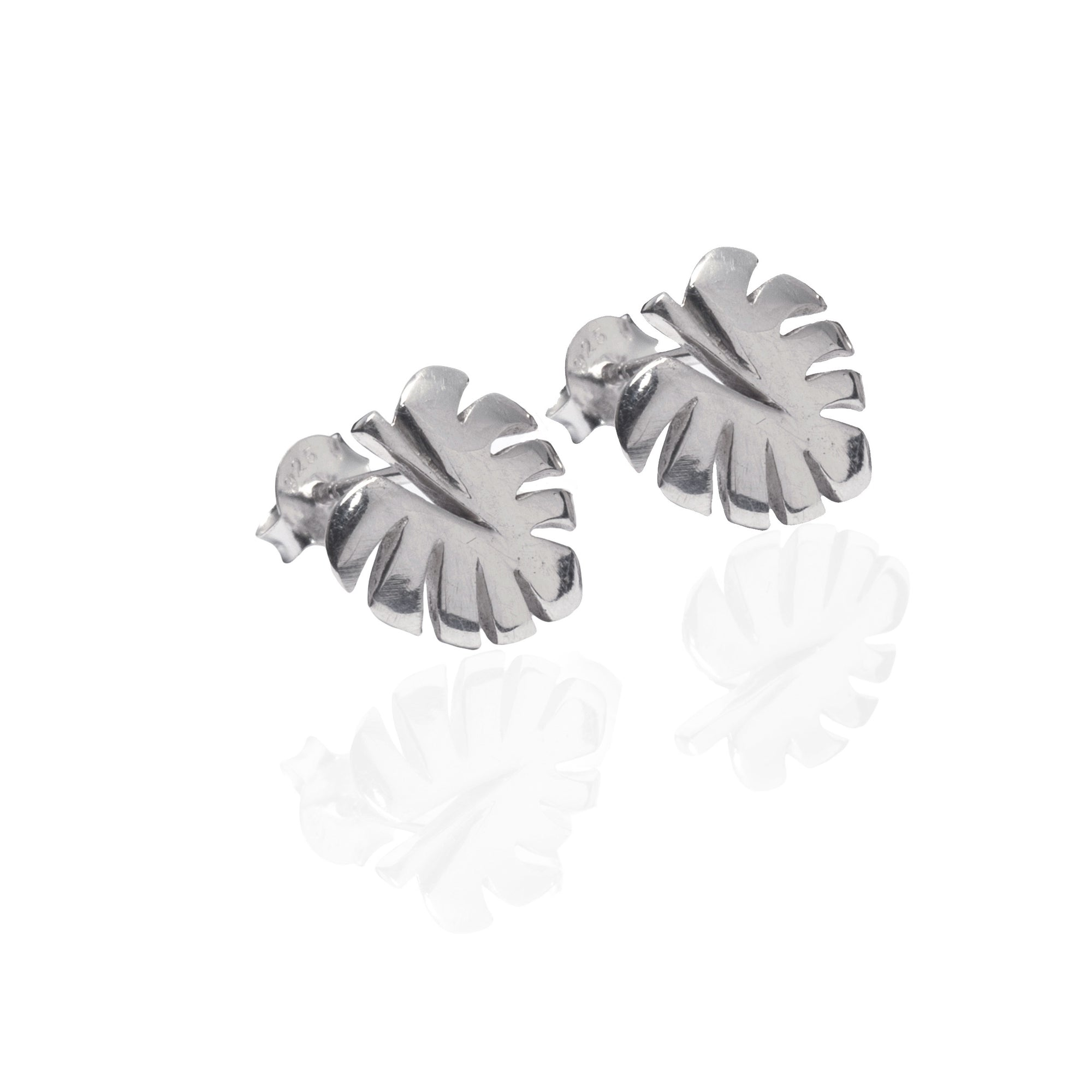 Never Leaf Me Earrings (Silver)