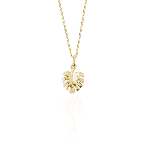 La Luna Rose Palm Leaf Charm - Gold