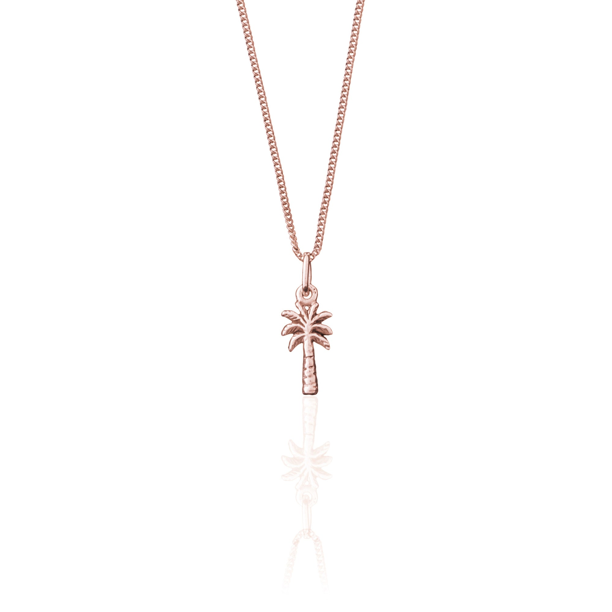 La Luna Rose Palm Springs Charm Necklace - Rose Gold