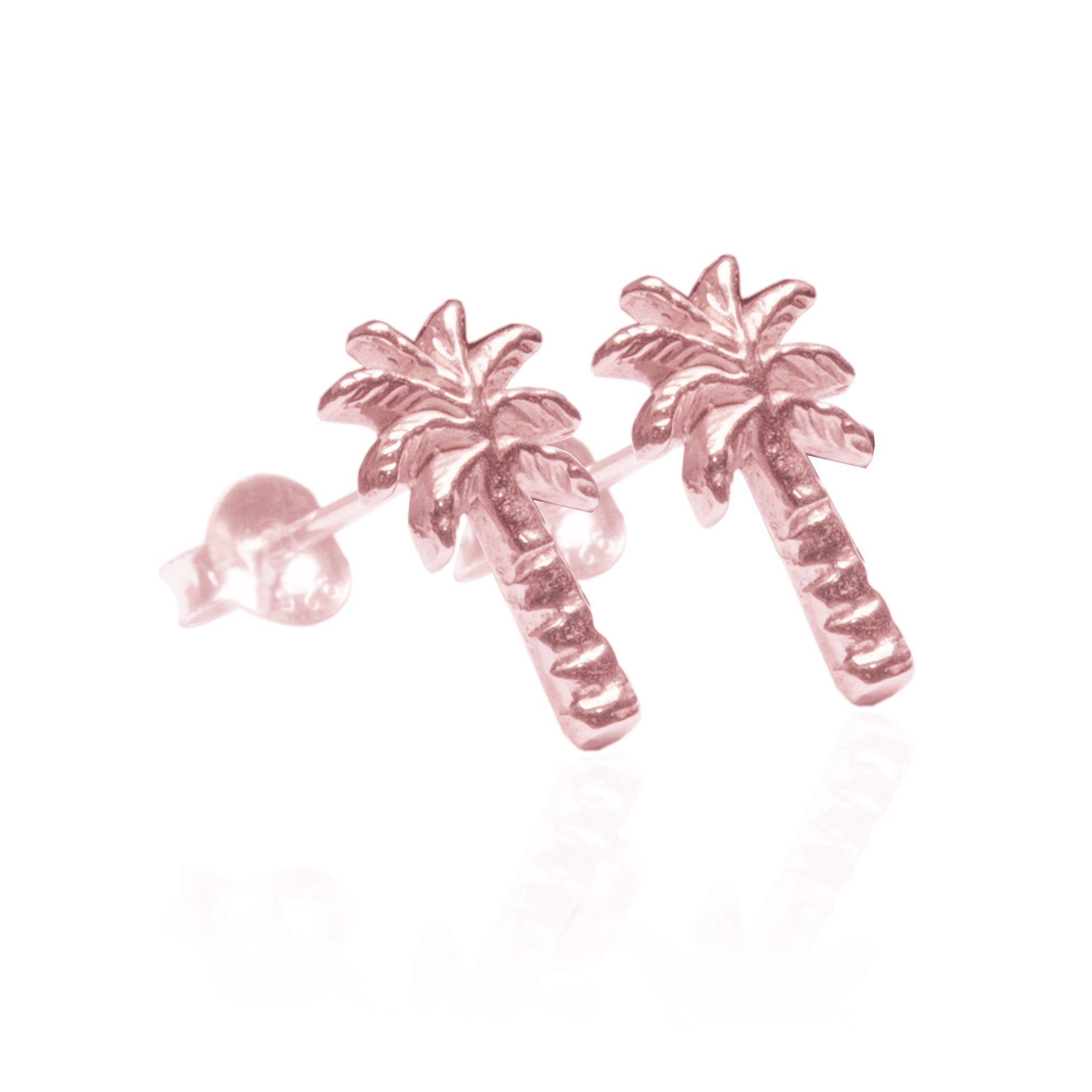 La Luna Rose Jewellery - Palm Tree Earrings Rose Gold