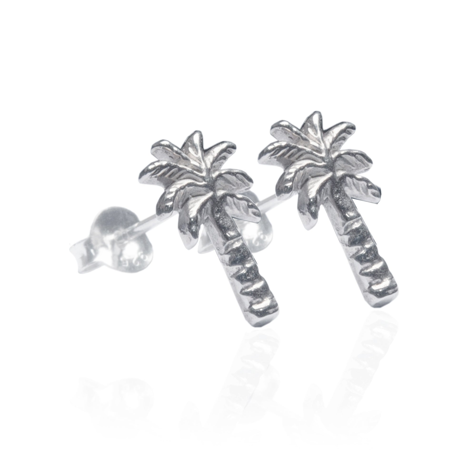 Luna & Rose - Palm Tree Earrings Silver