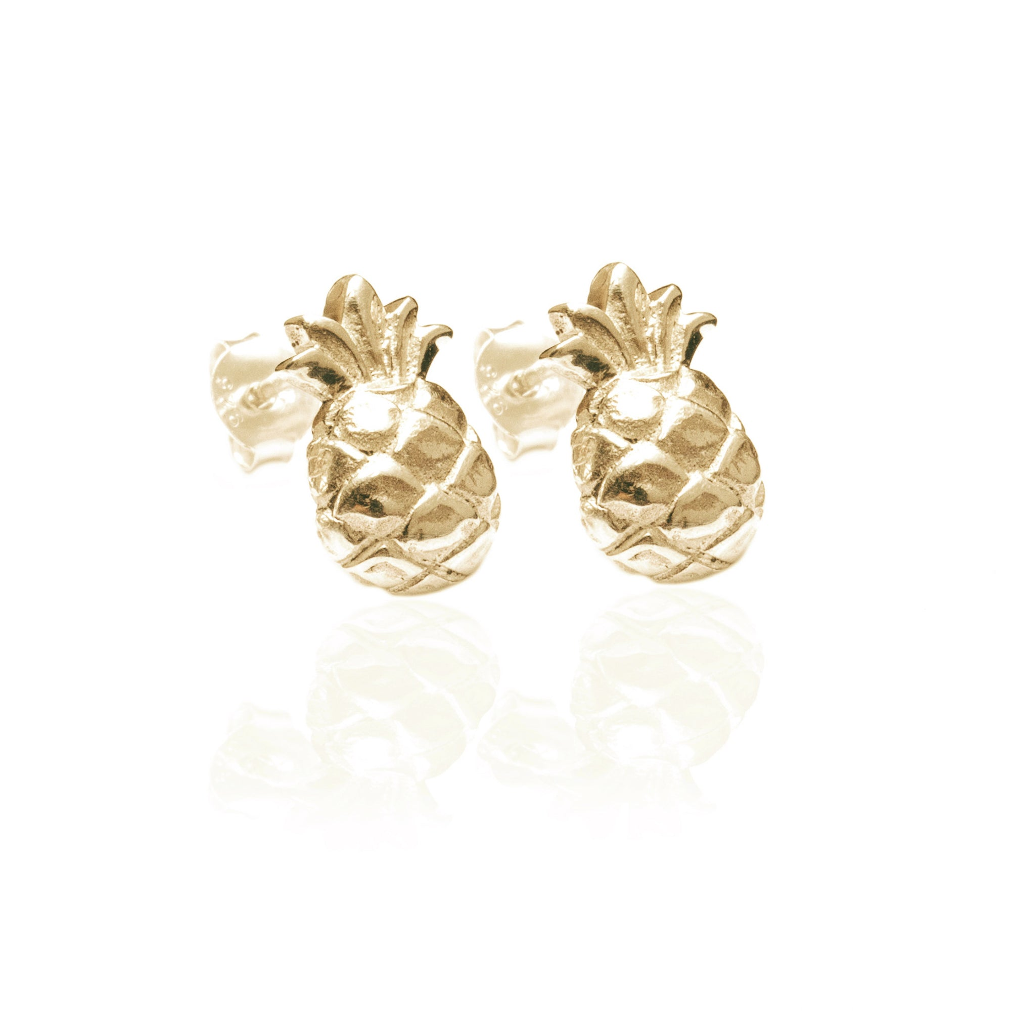 You're a Fine-Apple Earrings (Gold)