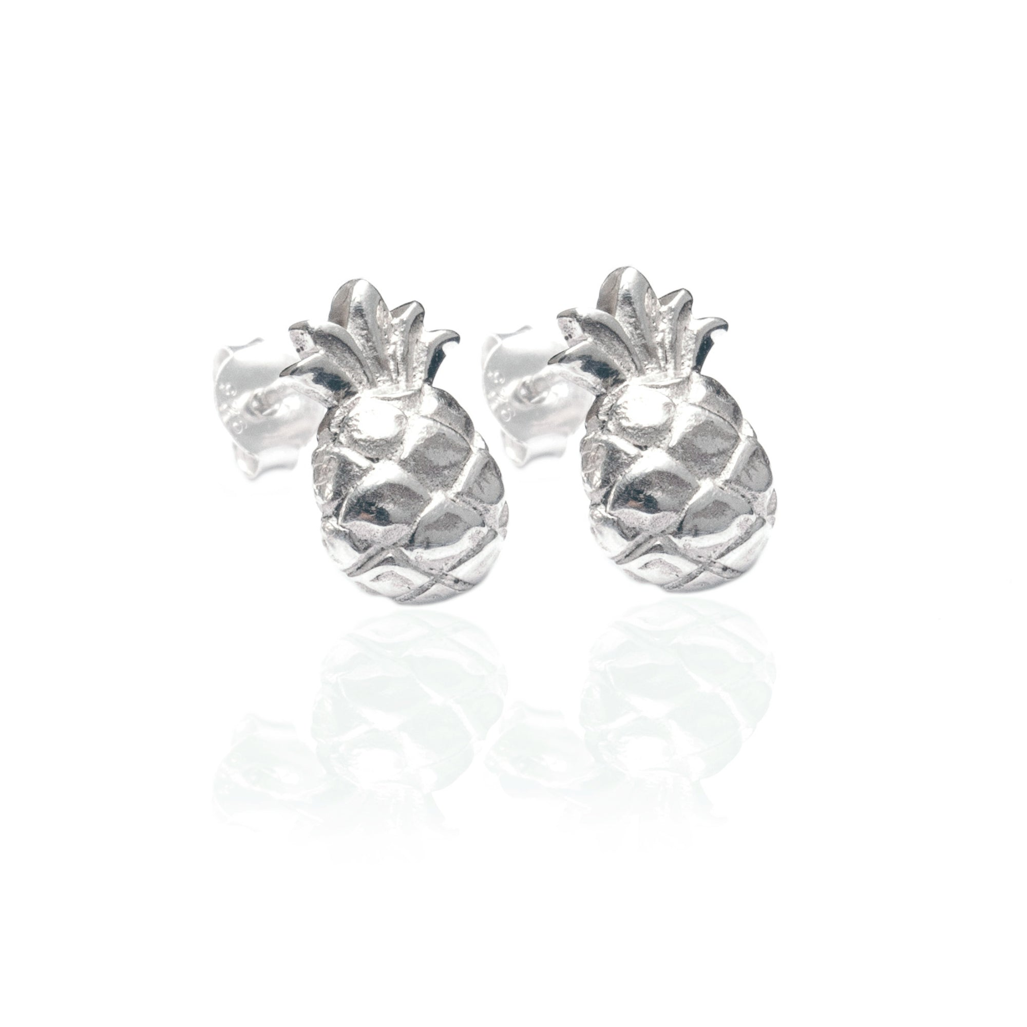 Luna & Rose - Pineapple Earrings Silver