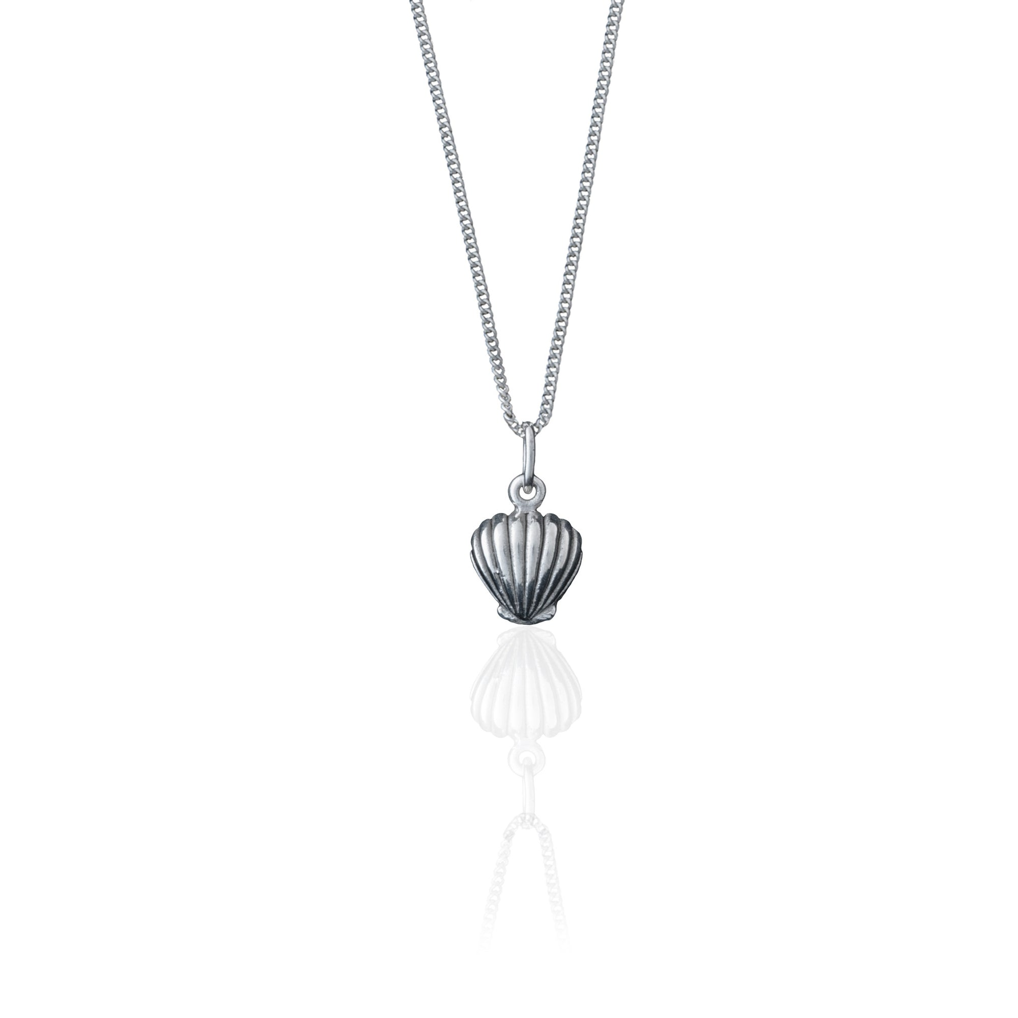 La Luna Rose Shell Necklace - Silver