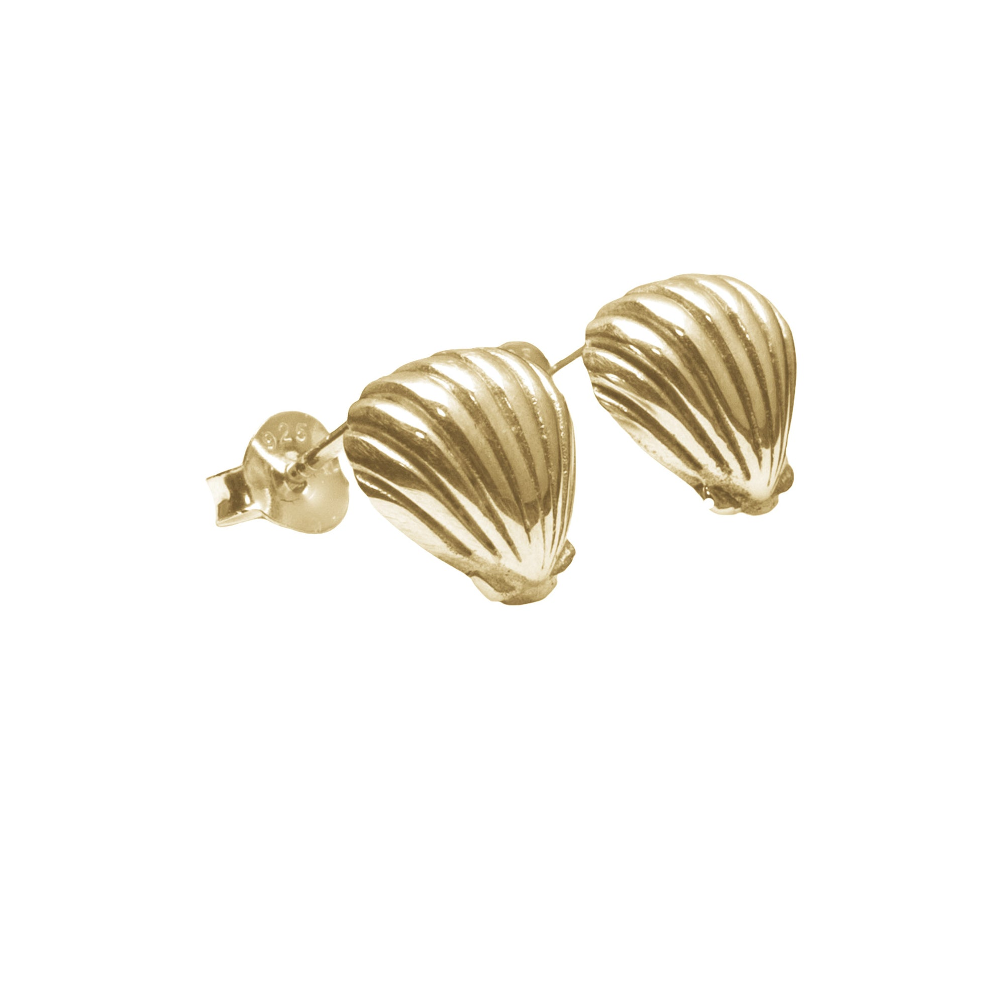 La Luna Rose Jewellery - Gold Shell Earrings