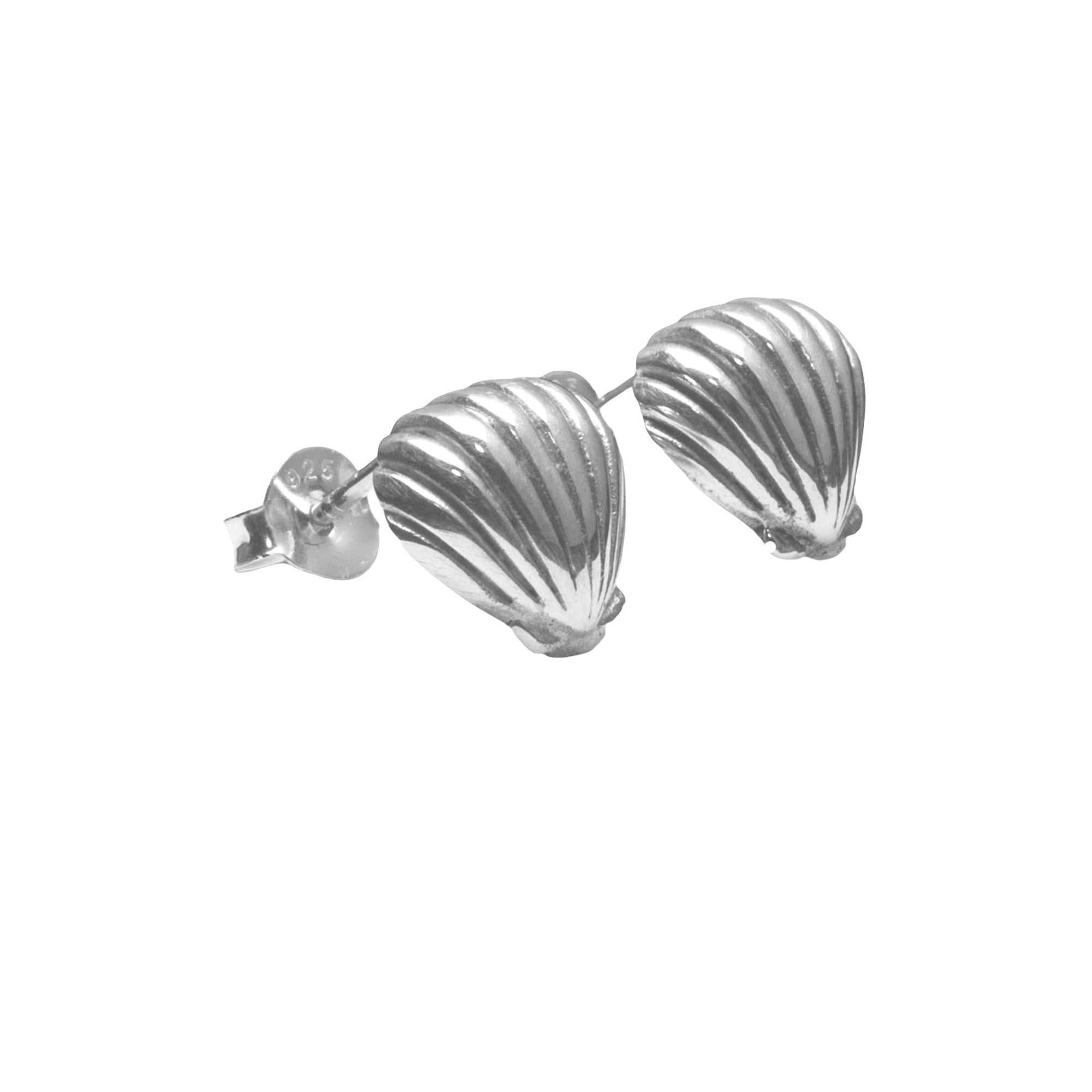 La Luna Rose Jewellery - Silver Shell Earrings