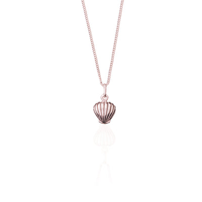 La Luna Rose Shell Necklace - Rose Gold