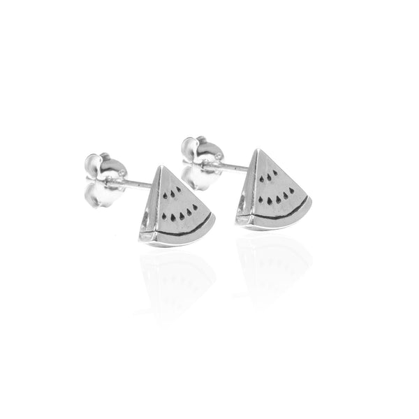 La Luna Rose Jewellery - Watermelon Earrings Silver
