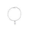 La Luna Rose Wish Upon A Star Link Chain Bracelet - Silver