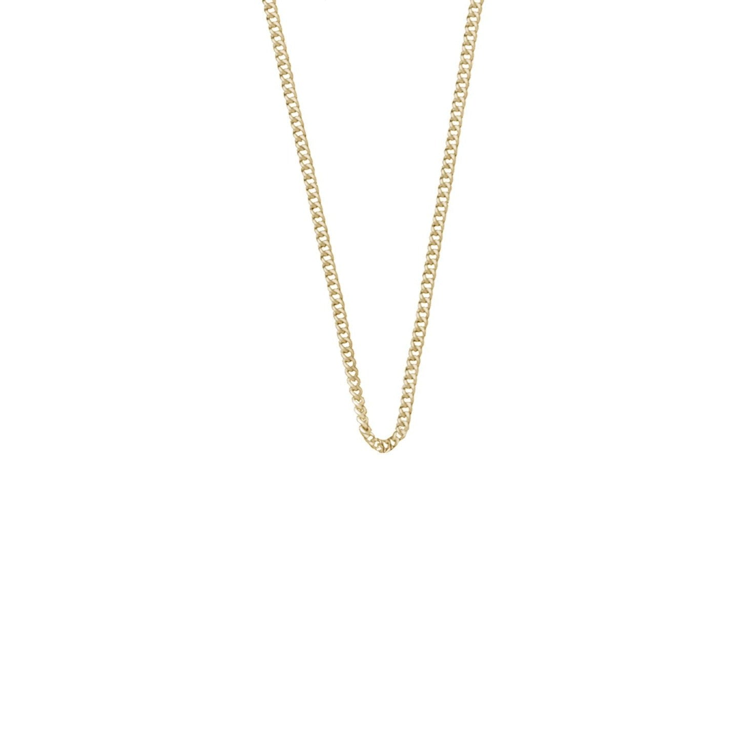 SOLID GOLD - SIMPLE FINE CHAIN - To Add Charms onto