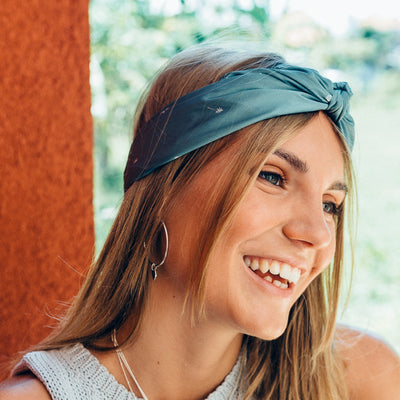 TROPICAL CONFETTI NECKSCARF - GREEN - La luna Rose