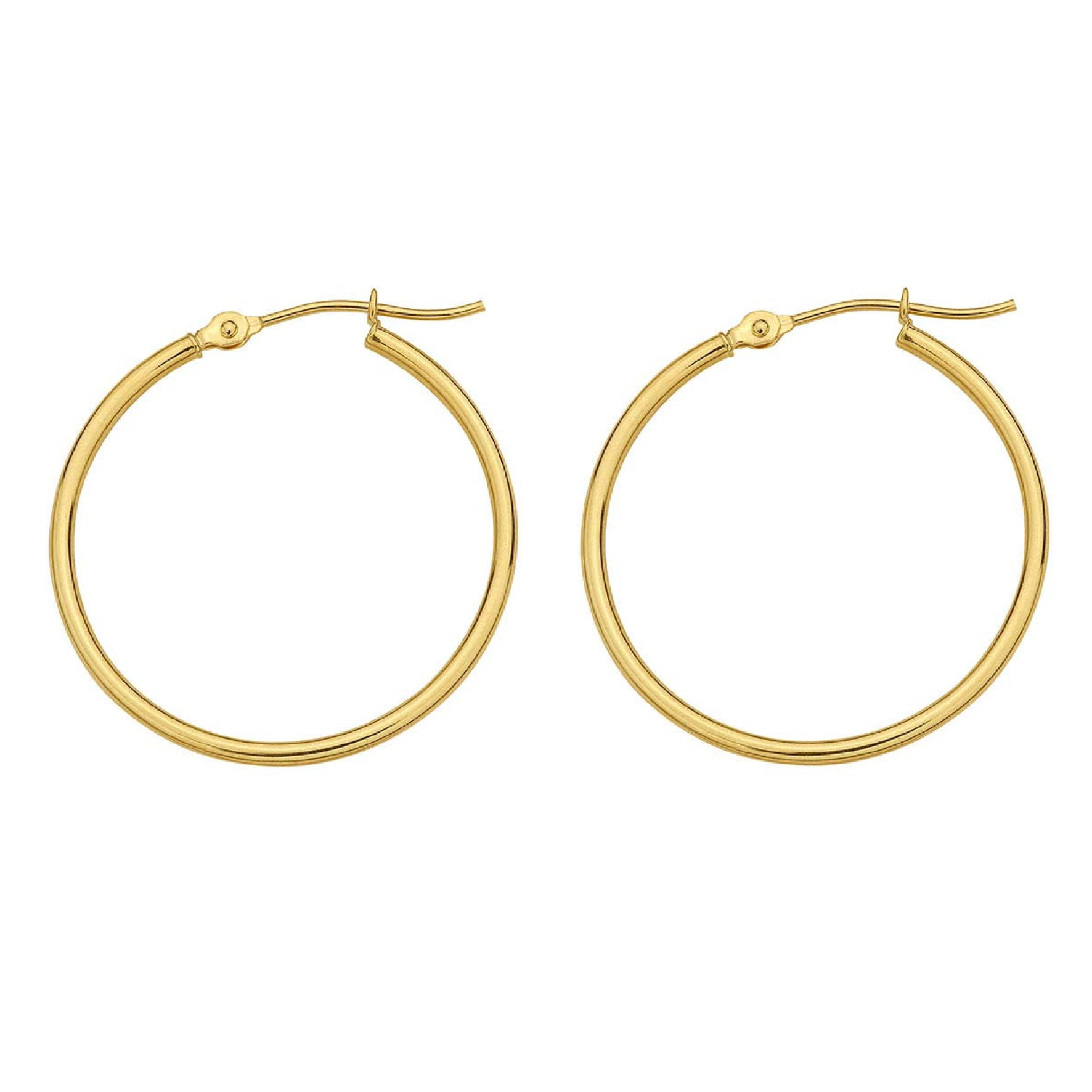 Signature Tube Hoops - GOLD