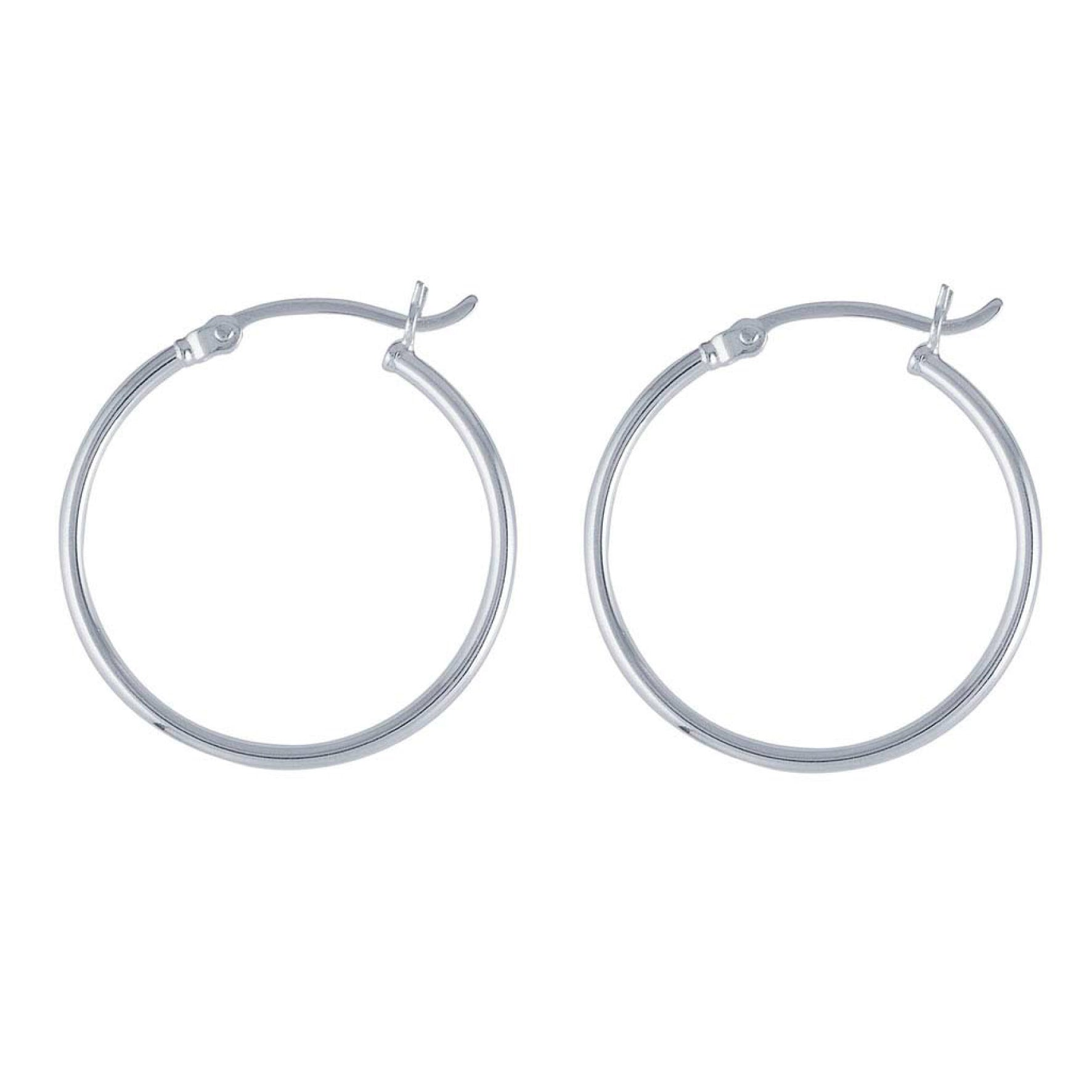 Signature Tube Hoops - SILVER
