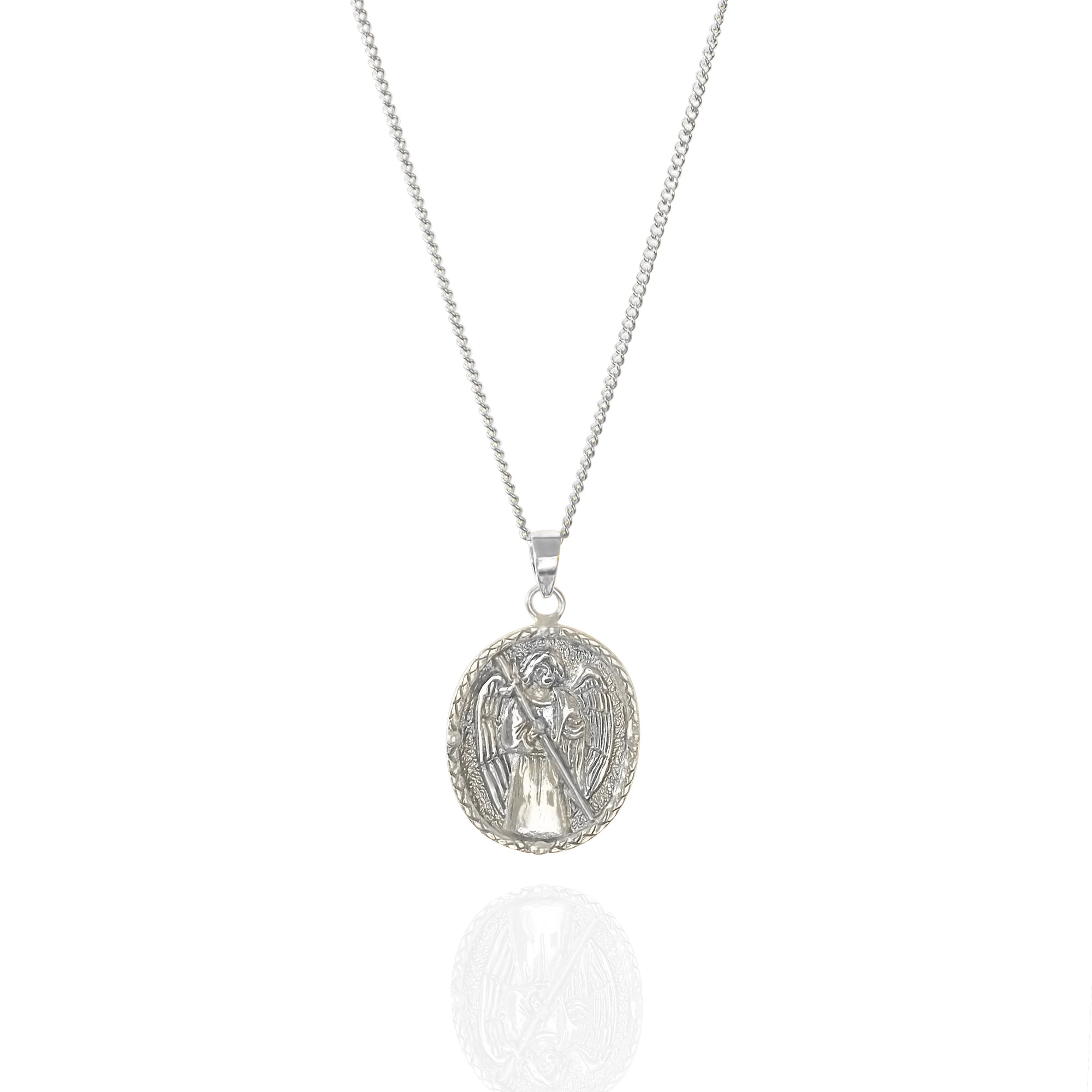 St Raphael - Patron Saint of Happy Meetings, Doctors & Nurses - Silver