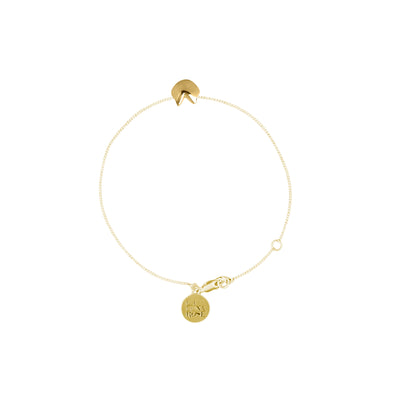 Fortune Cookie Gold Charm Bracelet - Gold