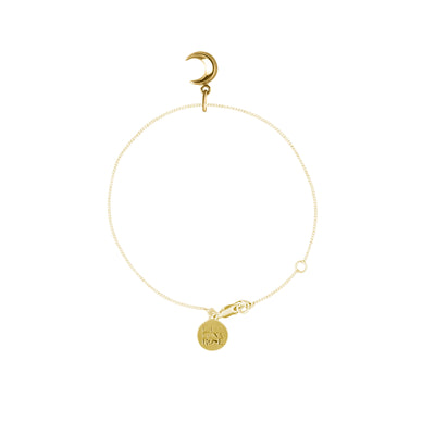To The Moon and Back Gold Charm Bracelet