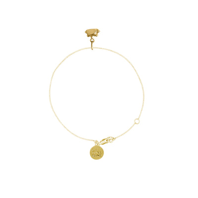 See you at Sunrise Gold Charm Bracelet - Fine Chain