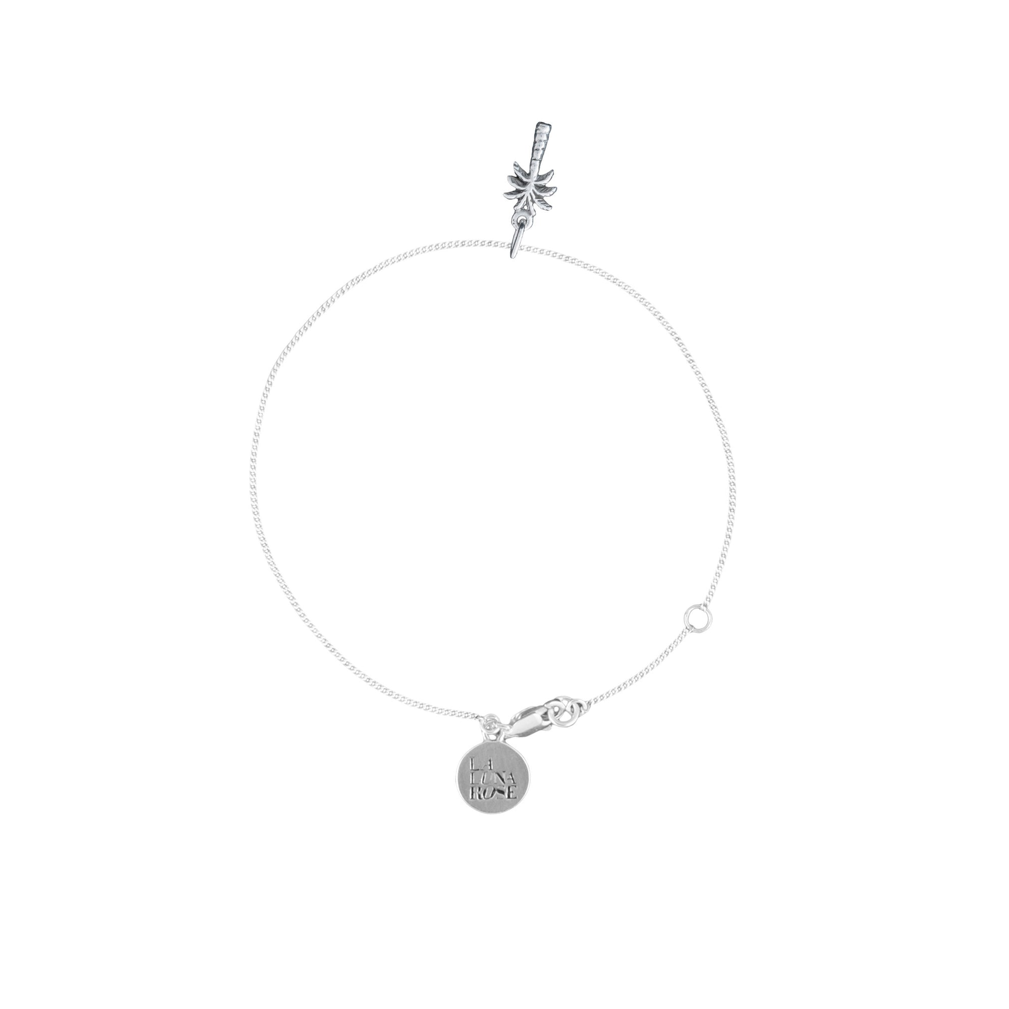 La Luna Rose Palm Tree Bracelet - Silver