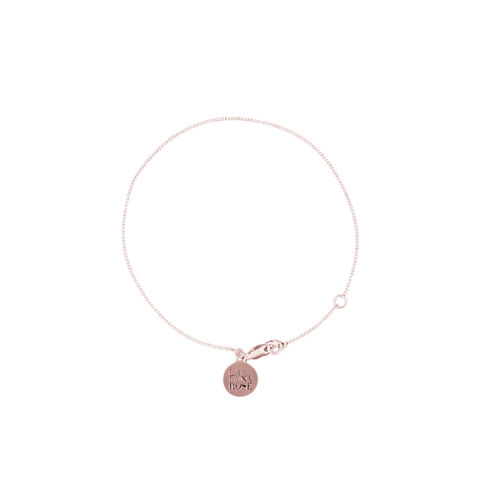 Rose Gold Fine Chain Bracelet for Charms