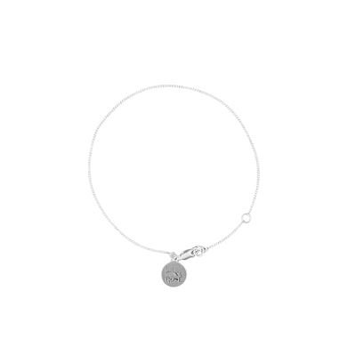 La Luna Rose Fine Chain Bracelet - to add charms to -  Silver