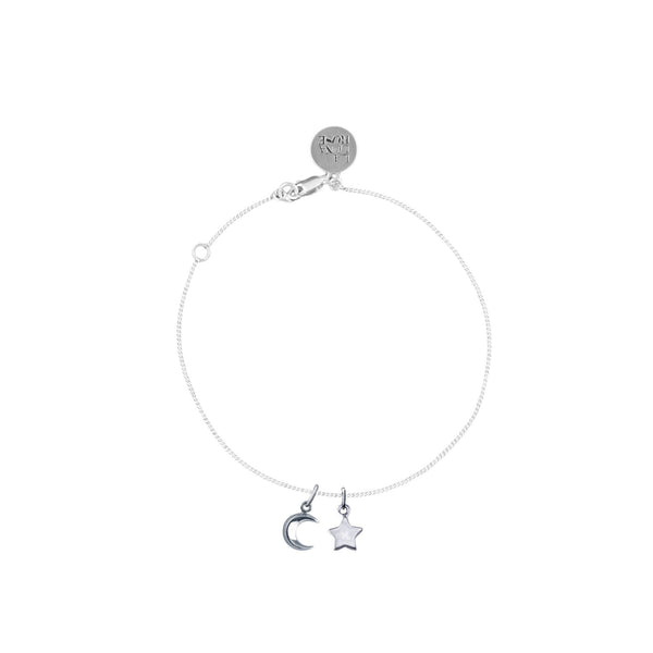 To The Moon and Back Charm Bracelet with Star