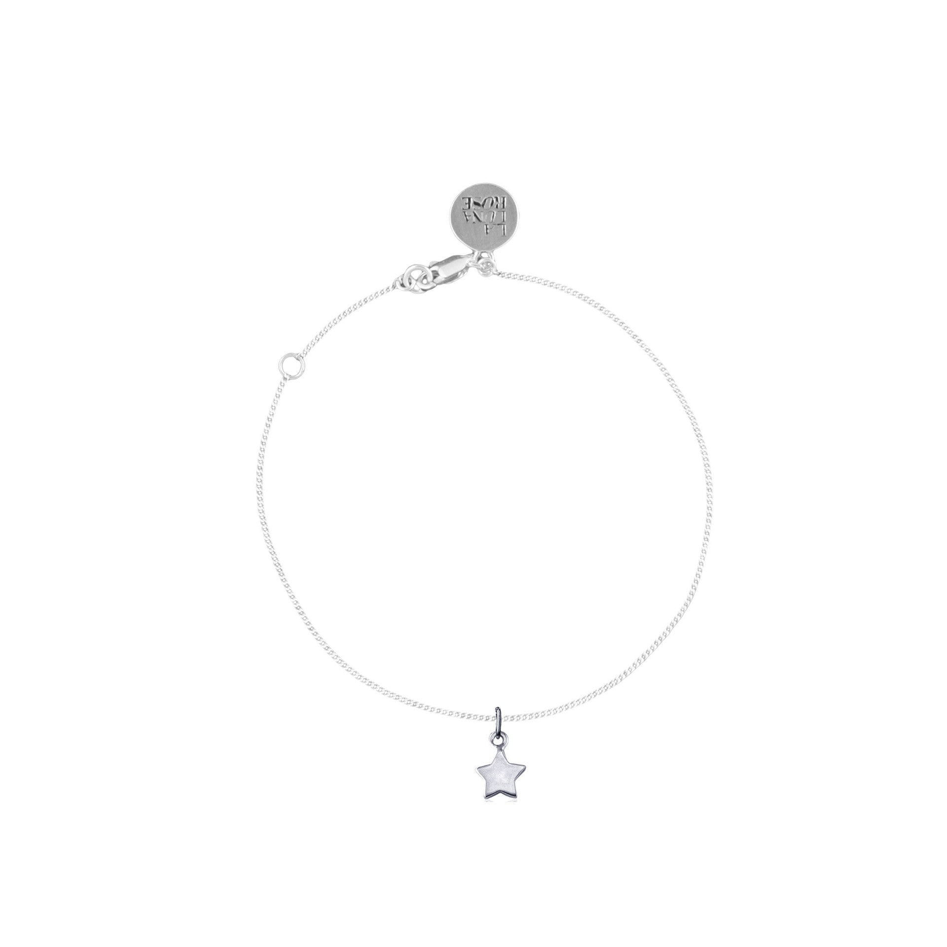 La Luna Rose Wish Upon A Star Chain Bracelet - Silver