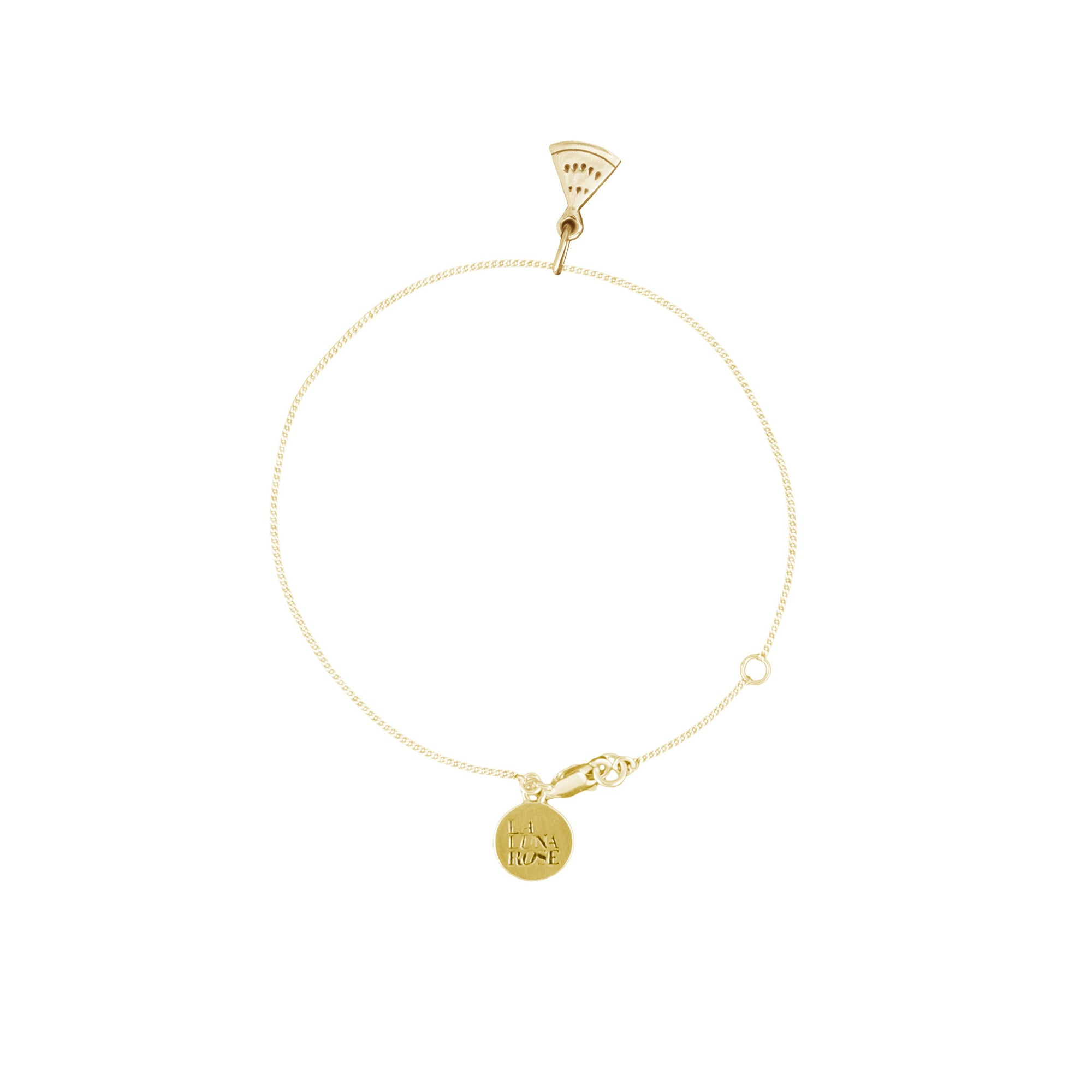 Luna & Rose - Watermelon Charm Bracelet - Gold