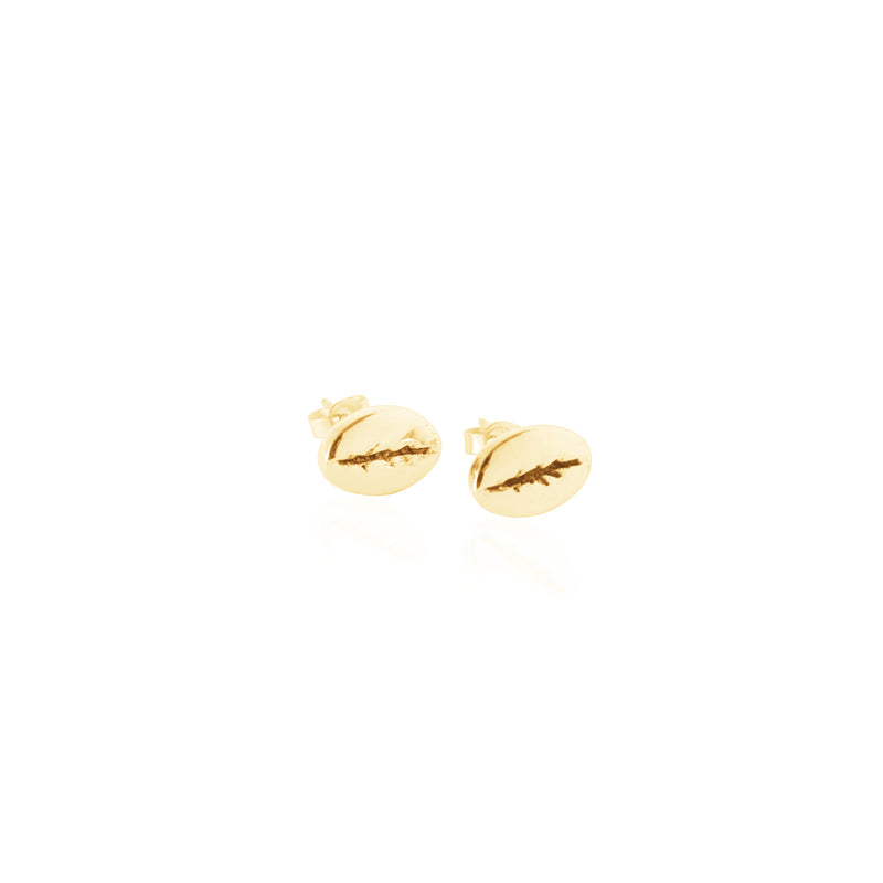 Coconut and Bliss x La Luna Rose Kintamani Studs - GOLD
