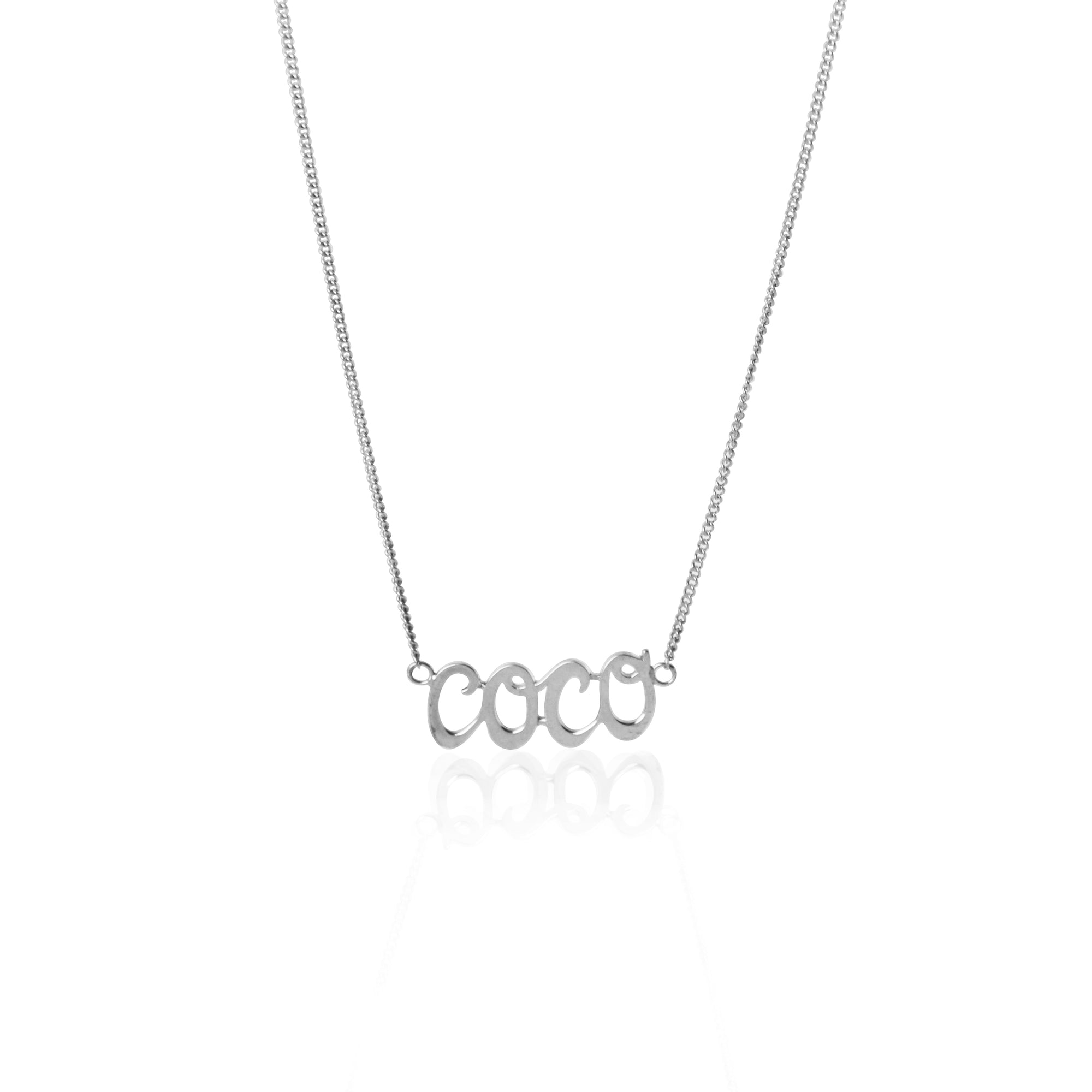 Coconut and Bliss x La Luna Rose Coco Necklace - SILVER