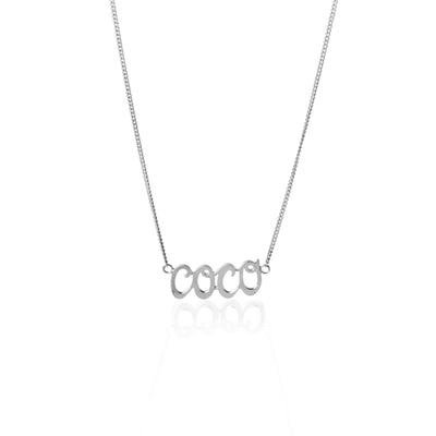 COCO necklace made from .925 Recycled Sterling Silver