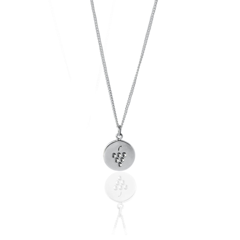 Coconut and Bliss x La Luna Rose Berry Crumble Necklace - SILVER