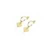 Pacific Palm Gold Hoop Earrings Coconut & Bliss