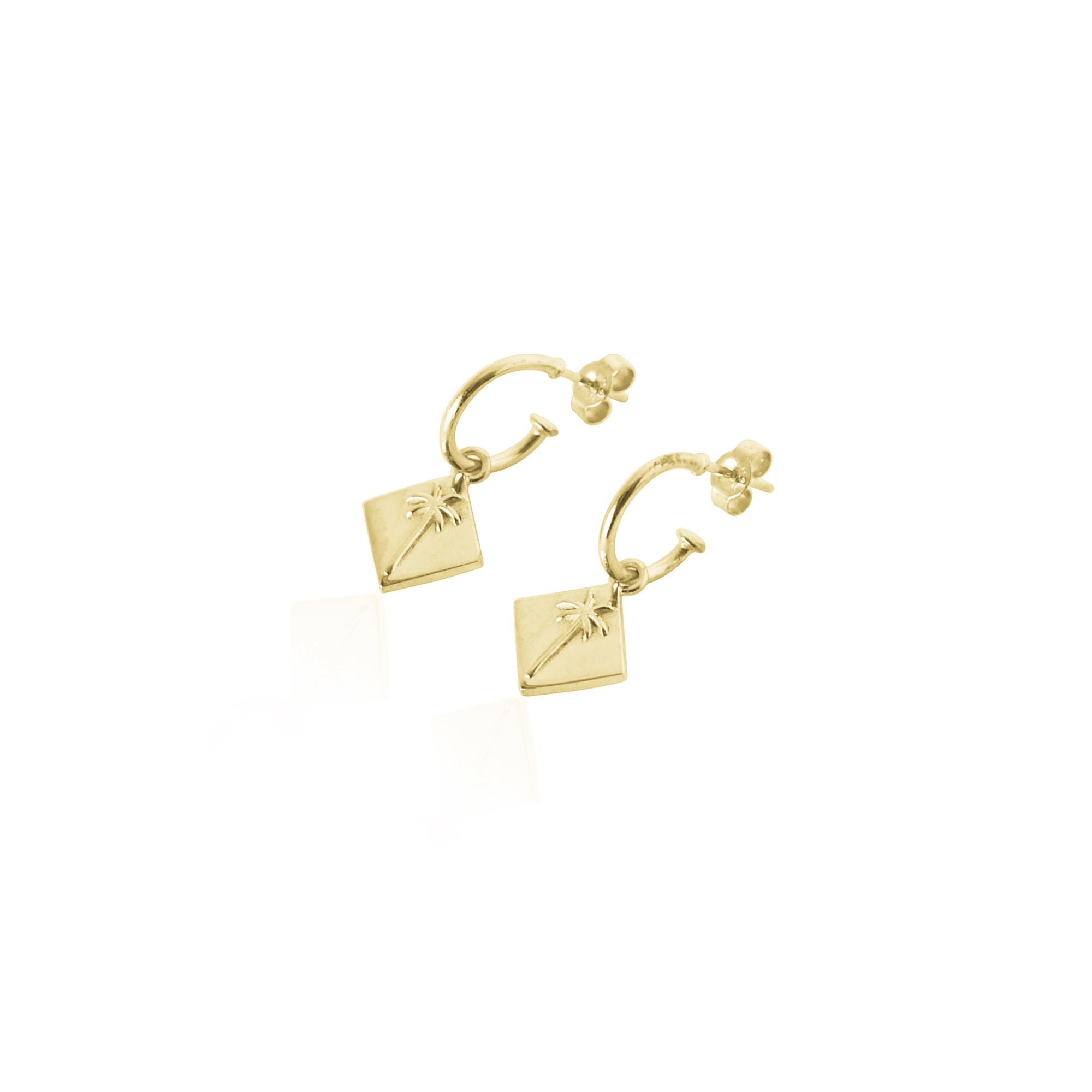 Coconut and Bliss x La Luna Rose Pacific Palm Earrings - GOLD
