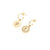 Coconut and Bliss x La Luna Rose Berry-Crumble-Earrings - GOLD