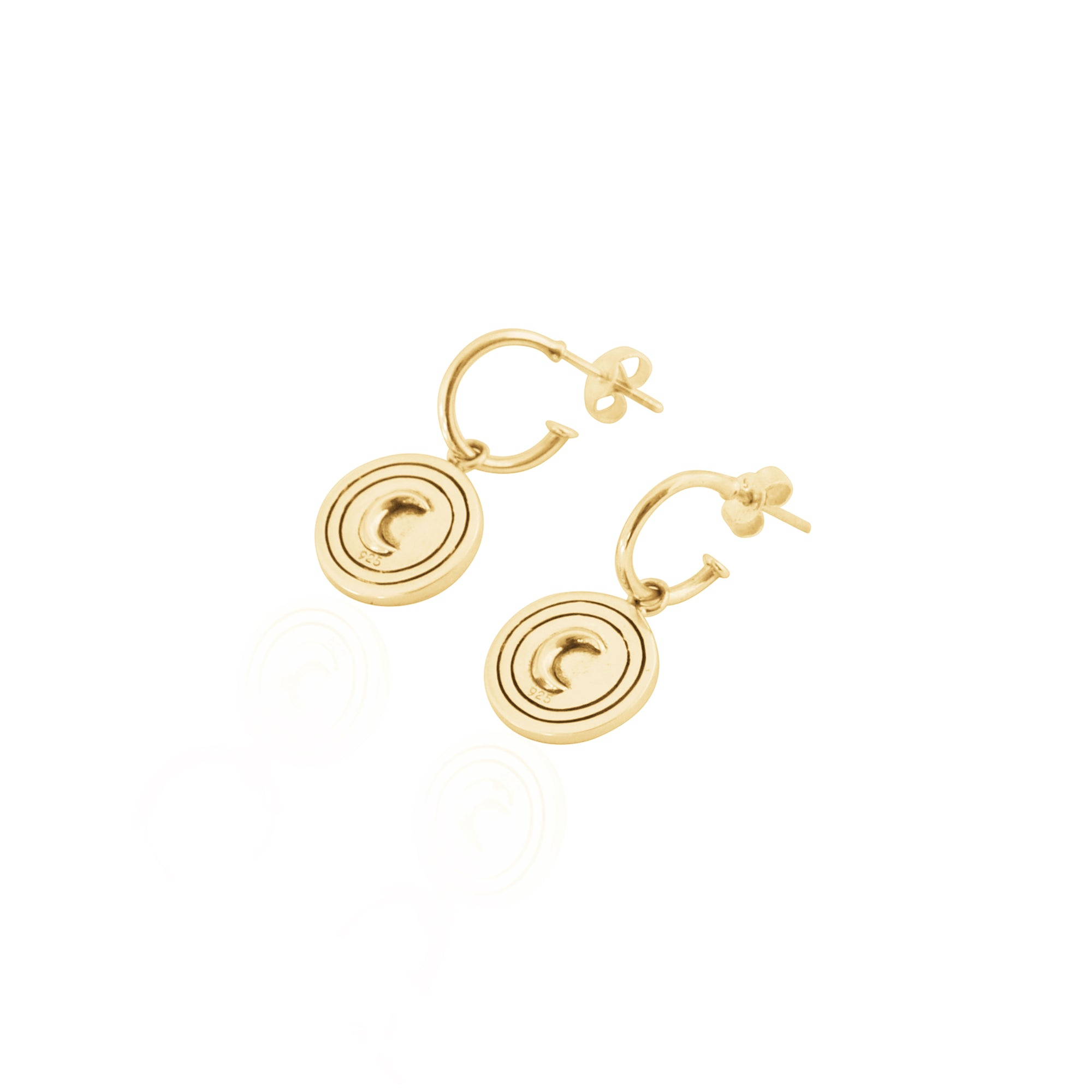 Moon & Berry Coconut & Bliss Hoop Earrings 18kt Gold