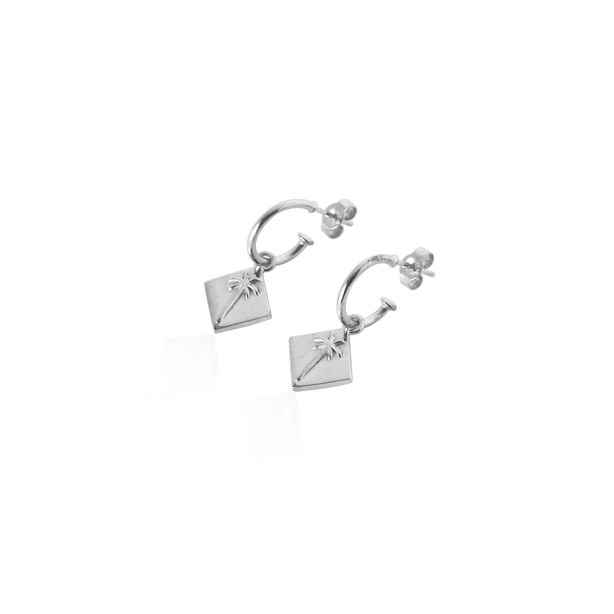Coconut and Bliss x La Luna Rose Pacific Palm Earrings - SILVER