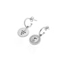 Berry and Moon Reversible Hoop Earrings Sterling Silver