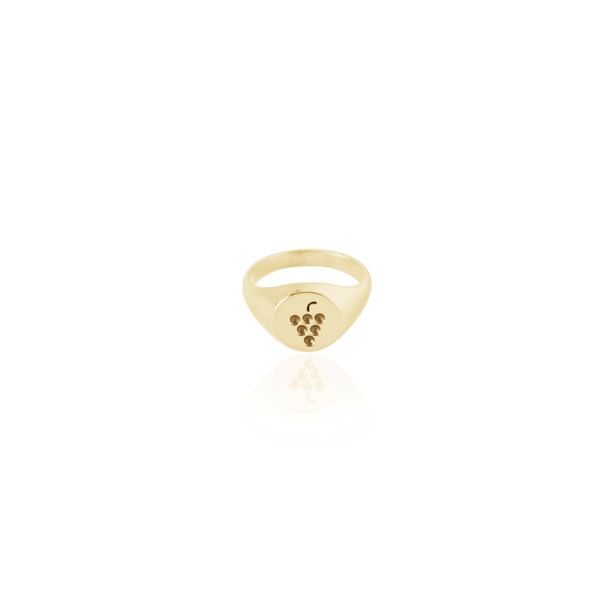 Coconut and Bliss x La Luna Rose Berry Crumble Signet Ring - GOLD