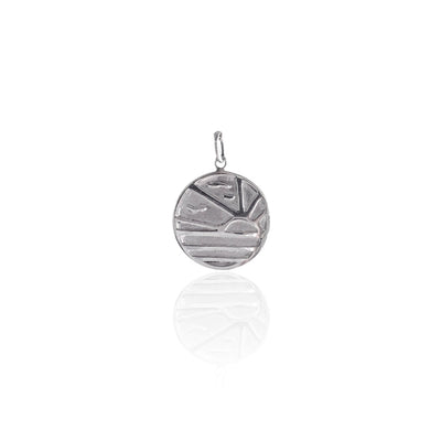 LA LUNA ROSE X GOLDFISH KISS SUNSET PENDANT CHARM - SILVER