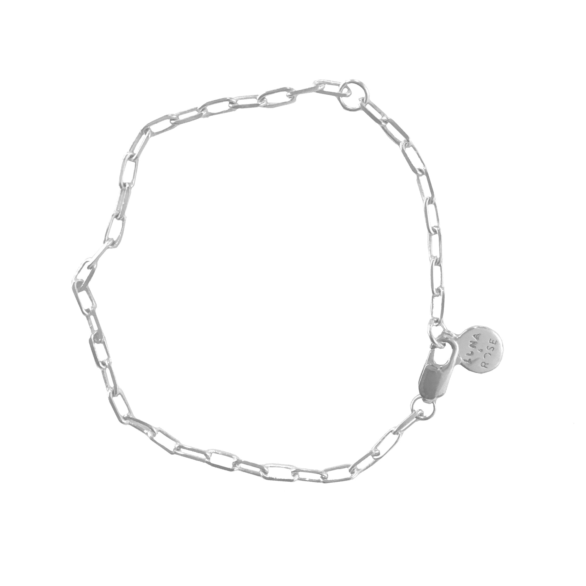 LONG BEACH LINK CHAIN BRACELET - Silver