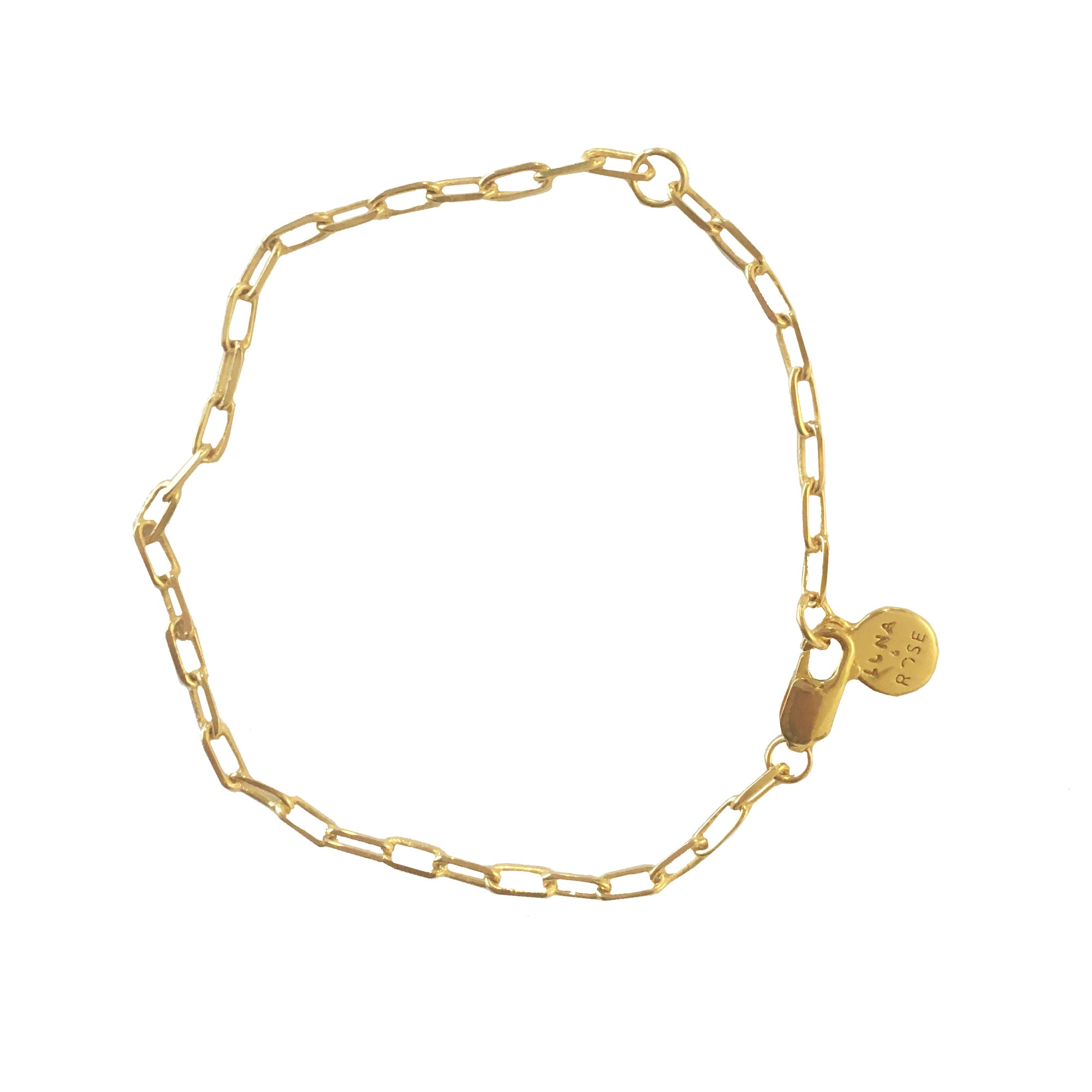 LONG BEACH LINK CHAIN BRACELET - Gold