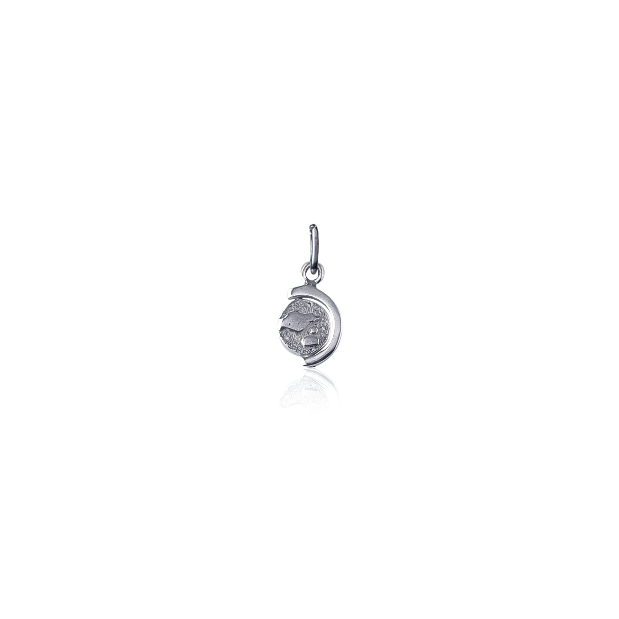 Silver Spinning Charm for Necklace or Bracelet