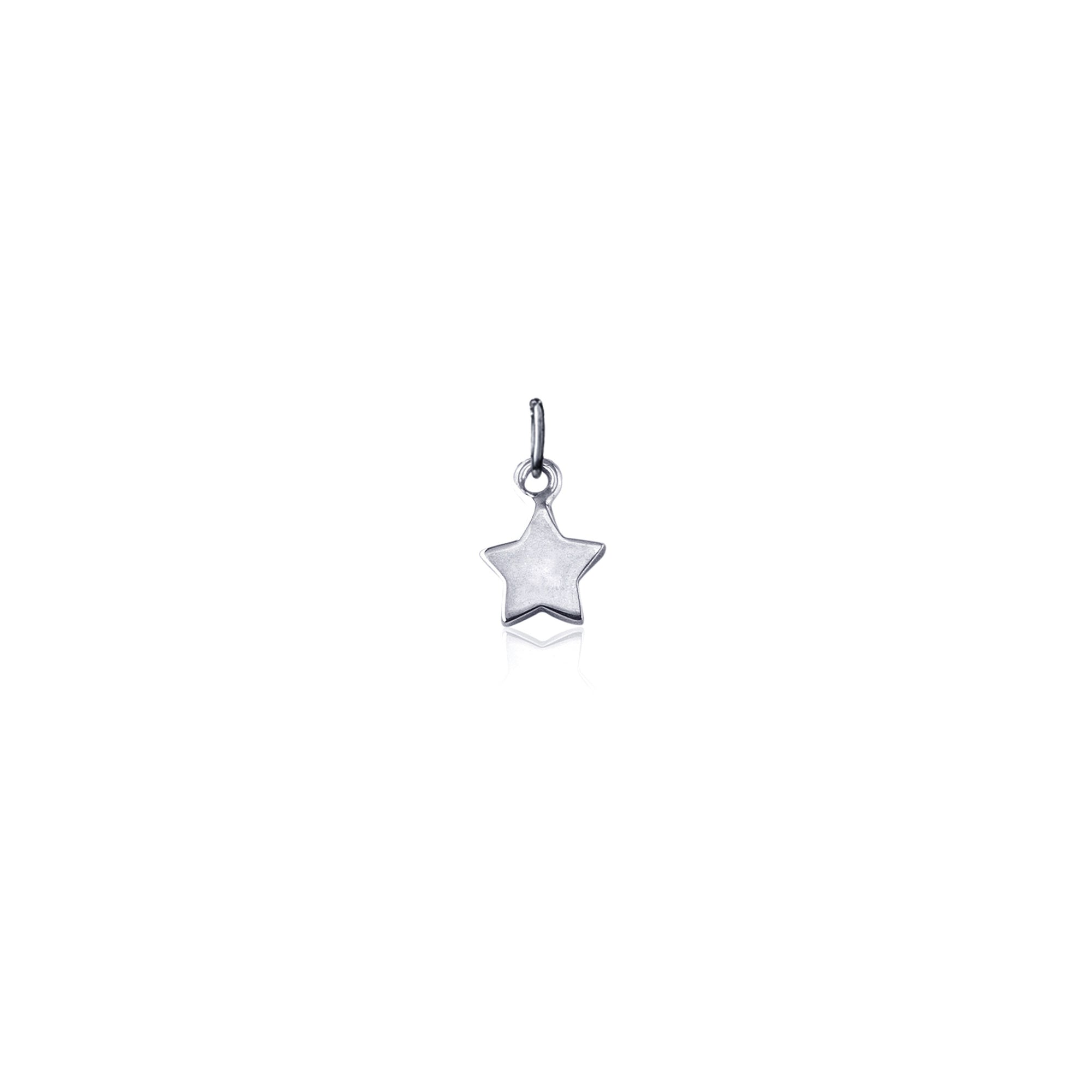 La Luna Rose Silver Star Charm for Necklace and Bracelets
