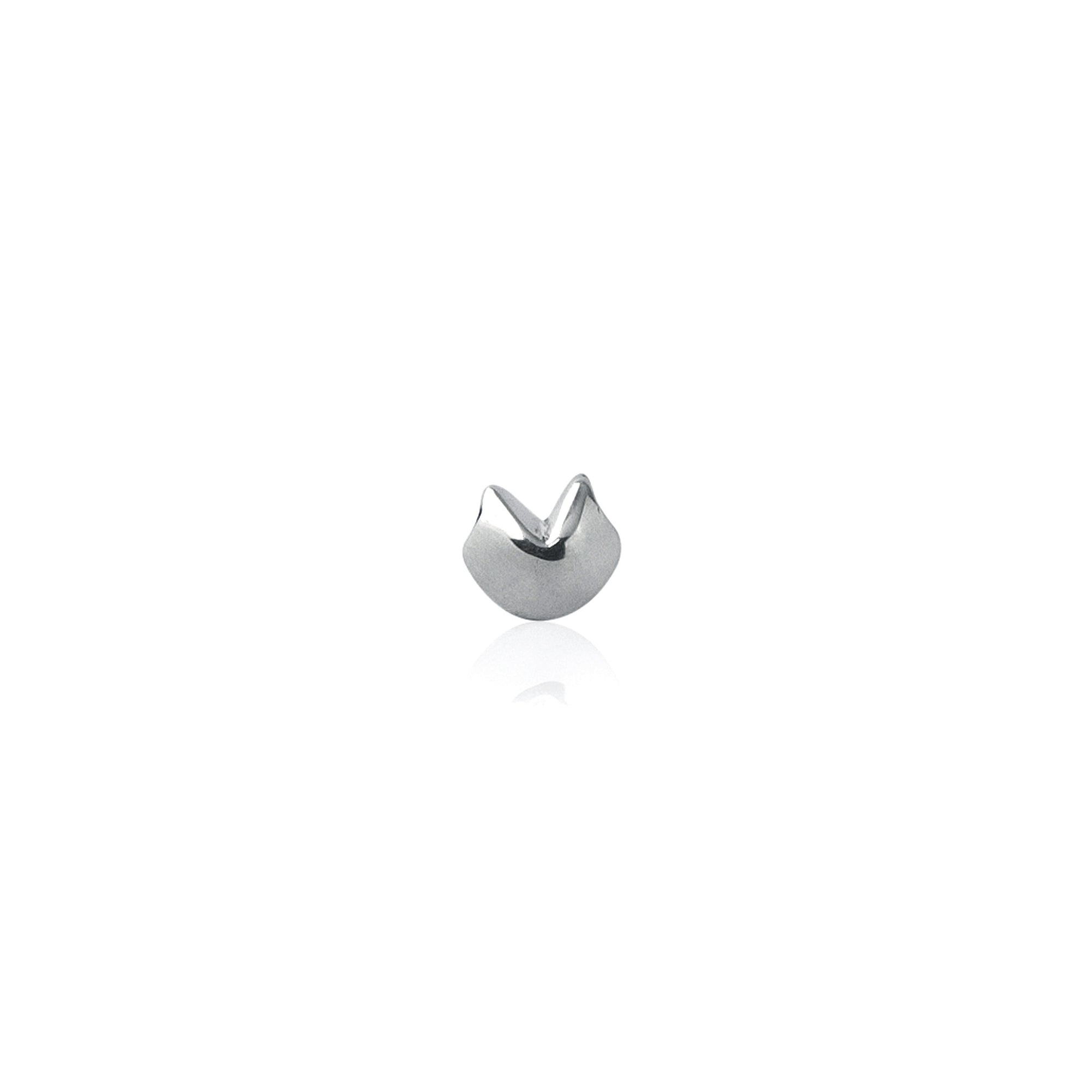 Good Luck Fortune Cookie Charm - Silver