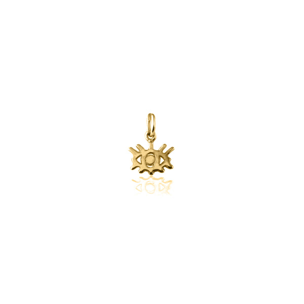 Protective Eye Charm in Yellow Gold