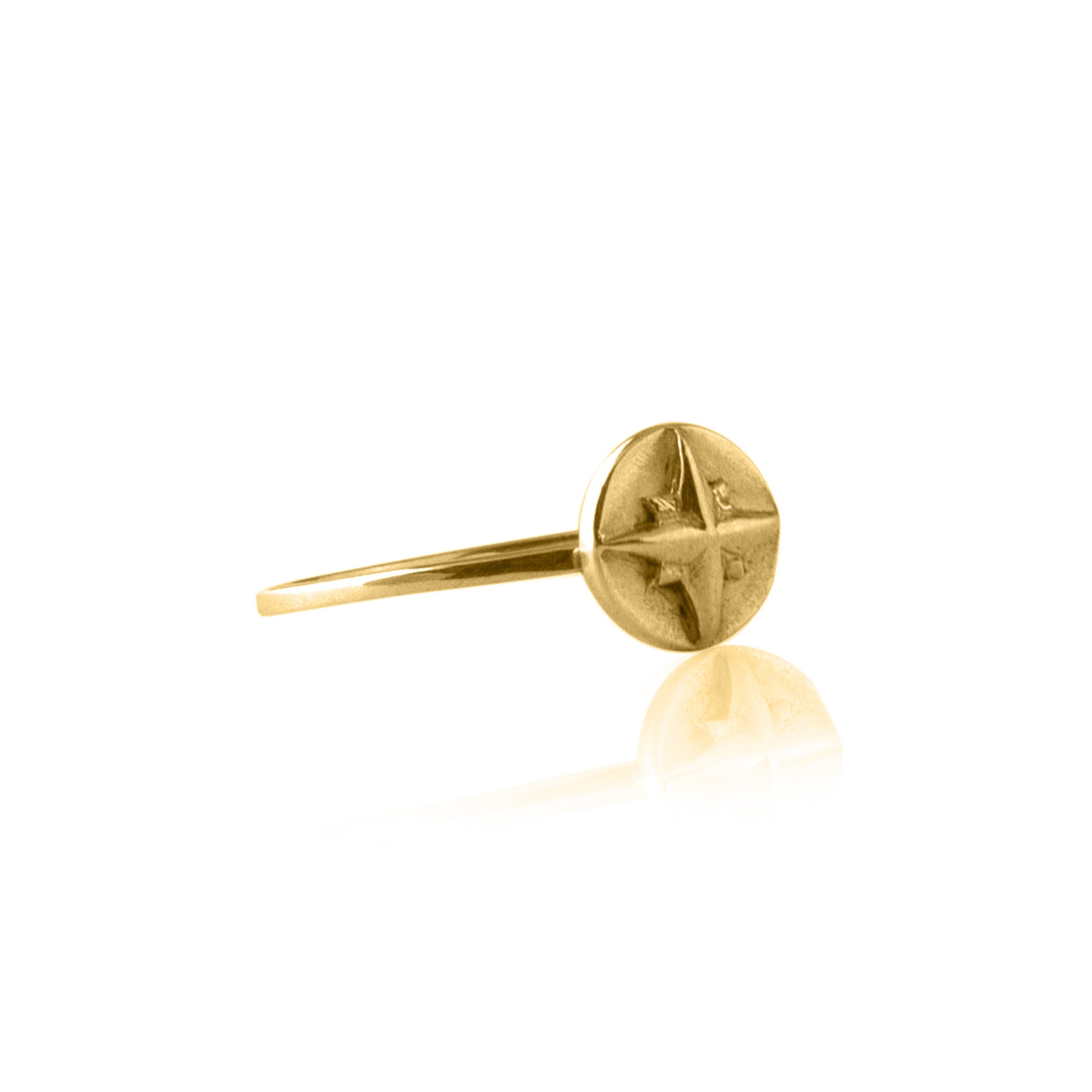 Born to Roam Compass Ring for Travelers from La Luna Rose Jewelry